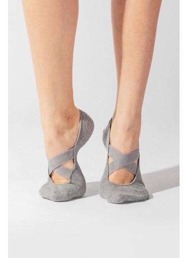 Katia & Bony Asta Yoga Basic Görünmez Çorap  Gri